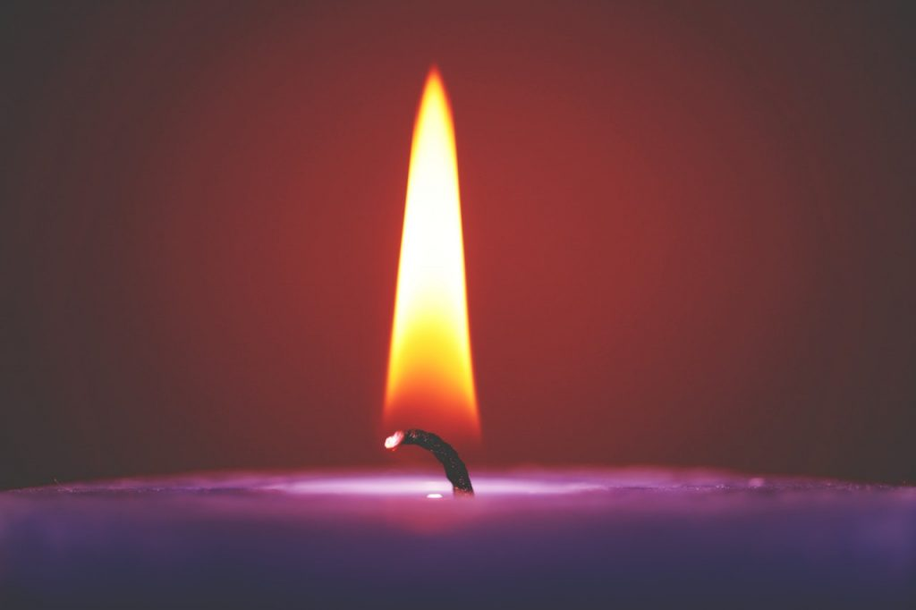 Flame of Advent Candle