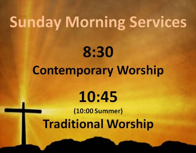 Website Sunday Worship Services